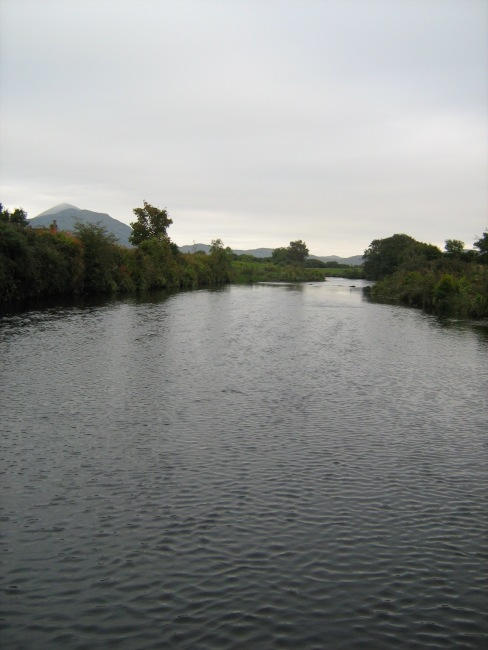 low water, looking upstream on the straight run