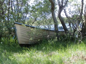 My boat in Pike Bay, Lough Conn