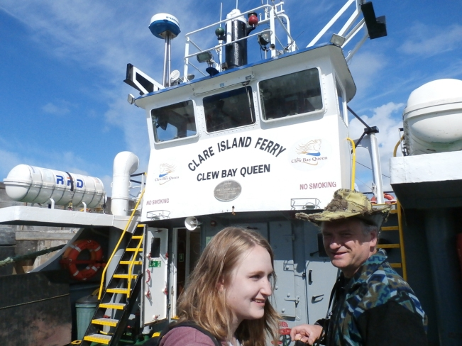 On the ferry out to Clare Island
