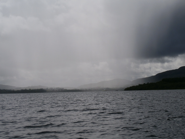 Rain heading our way, Lough Conn August 2017