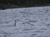 broken marker pole, Lough Cullin