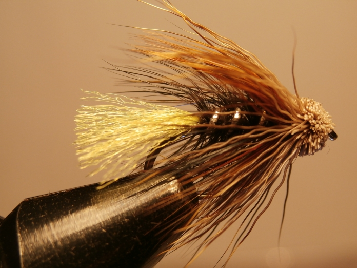 Kate McLaren, muddler head and a bright yellow tail