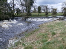 high water at the weir