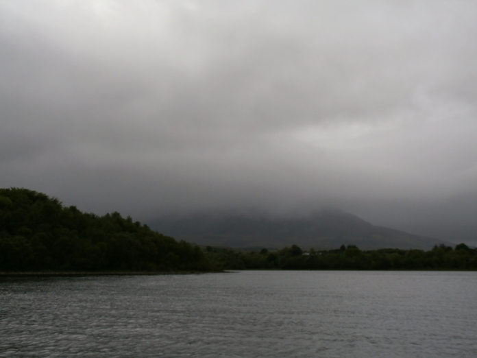 mist coming down over Nephin