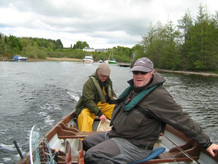old photo of Ben and Mick as we leave the roachpond