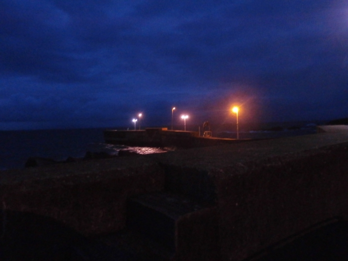 Roonagh pier at night