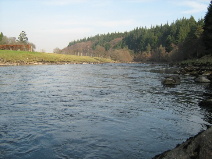 The Aberdeenshire Dee, deep wading is a must on a lot of this river
