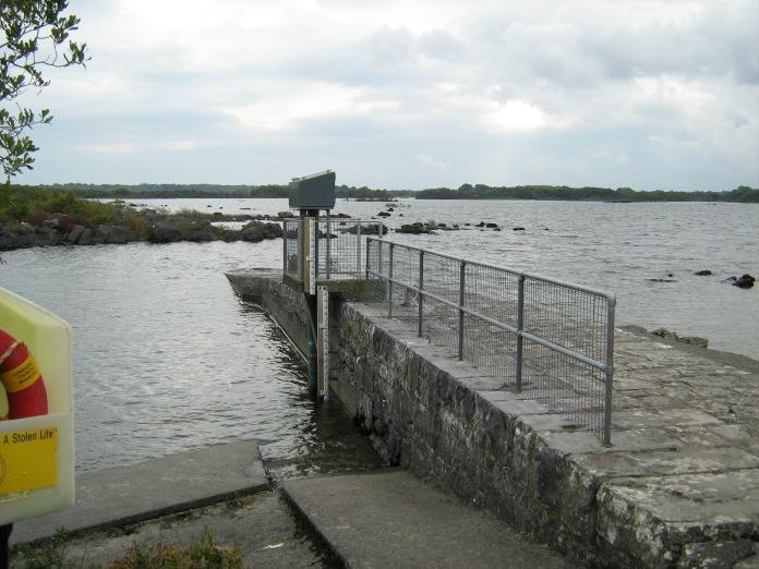 Pier, high water